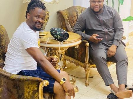 Nollywood Actor, Zubby Michael Hosts The CEO Of Splendid Luxury Furniture In His Mansion