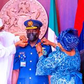 Buhari Is Working: See Pictures of Buhari Decorating the Newly Appointed Service Chiefs