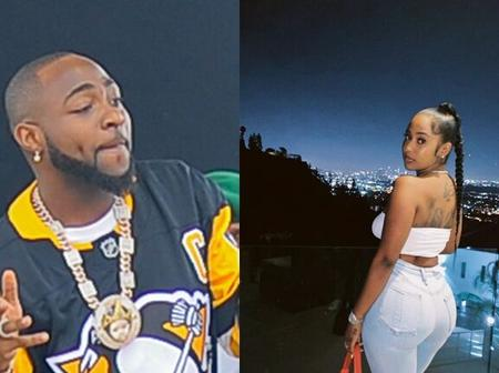 Pictures Of Davido Kissing Mya Yafai Emerges Online, See Reactions From Nigerians.