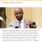 Jubilee plan flops to de-whip Kang'ata