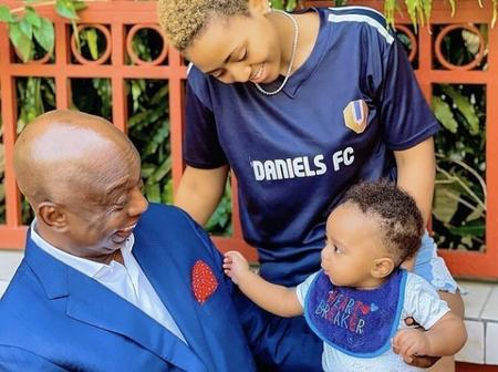 See the recent pictures of Regina Daniels with her husband and child, the baby resembles his father
