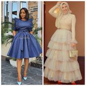 Tailors, See Different Style Inspirations You Can Sew With Jean Or Net Fabrics That May Inspire You