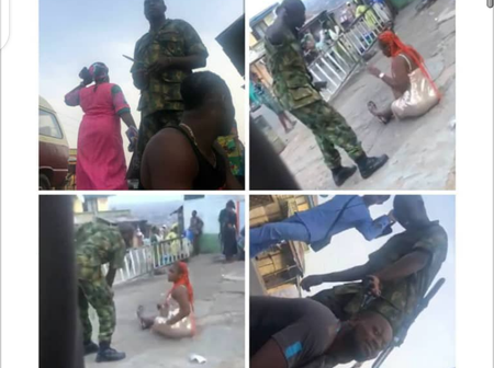 Remembered That Soldier Pictured Flogging a Woman And Shaving a Guy Hairs, Read What Happened to him