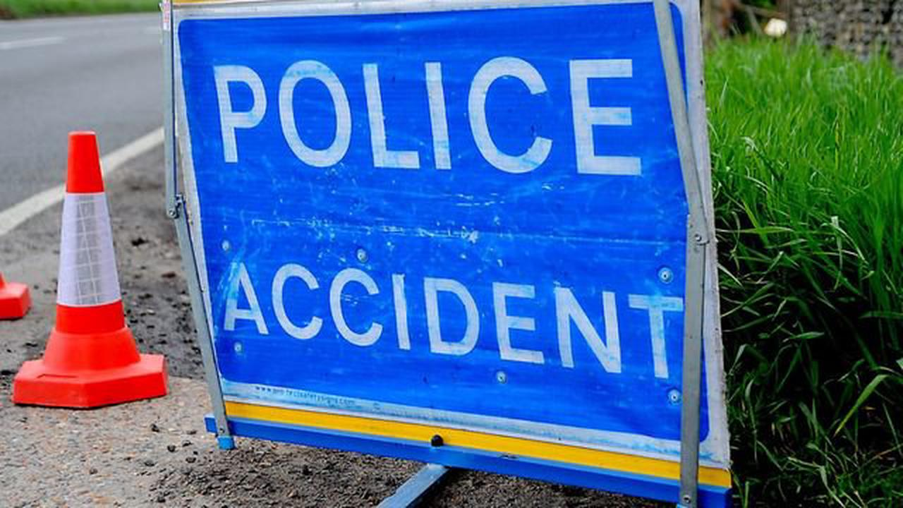 Part of A47 closed due to crash