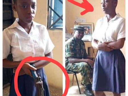 See What This School Girl Allegedly Tried To Use This Gun To Do Before She Was Caught And Arrested
