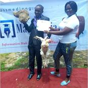 Remember The Best Graduating Student That Was Given A Live Chicken And A Tuber Of Yam? See Photos