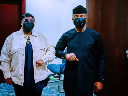 PHOTOS: Check Out What Teni Entertainer Said After Meeting Vice President, Yemi Osinbajo at Aso Rock