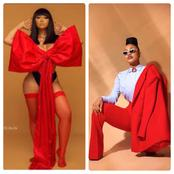 Rosy Vs Tonto, Who Rocks Red Better? (Photos)
