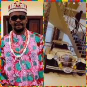 Zubby Michael Shares Video Of A Beautiful Car Parked Inside His Sitting Room