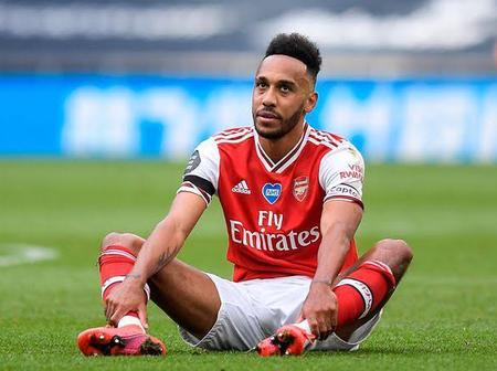 Bad News For Arsenal As Captain Aubameyang Set To Miss Vital Clash With Man City Due To Injury