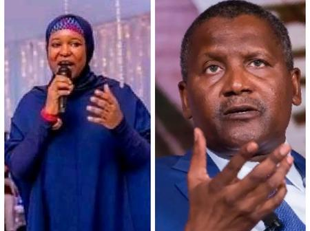 Aisha Yesufu Cited Monopoly as Reason For Dangote's Business Success, See Her Assertion