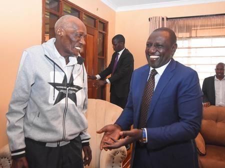 William Ruto Visits Mzee Kibor Days after Men's Conference