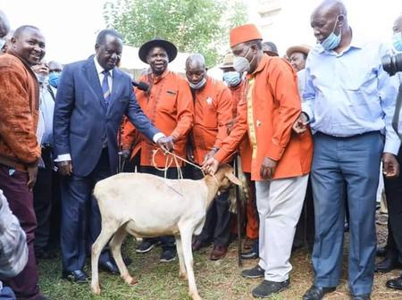 Raila start making moves towards reclaiming central Kenya which seems to be affiliated to Ruto