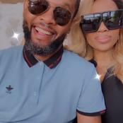 Newly married Dineo Ranaka posts her husband for the first time ever since getting married.