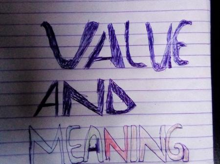 Meaning and definition of value
