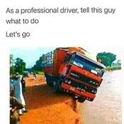 Save a soul: as a professional driver, what direction will you give to the driver