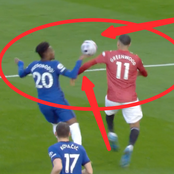 See Clear Pictures Of How VAR Robbed Manchester United Of A Clear Penalty Against Chelsea