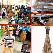 [VIDEO] Pastor Carries A Gun While His Congregation Hold Cutlasses, Brooms As They Pray To God