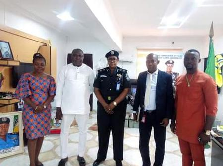 Campaign Against Thuggery And Electoral Malpractices (NYCN) Visit Abia State Commissioner Of Police