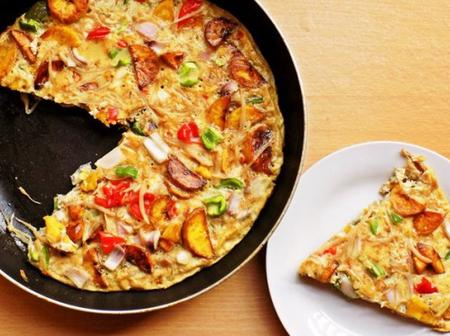 Plantain omelette is so easy to prepare. Follow this simple recipe to learn how to prepare it.