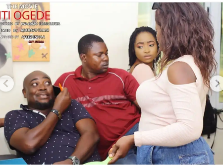 Afeez Eniola shares pictures from set of new movie with Bidemi Kosoko, Olohun Iyo & others.(Photos)
