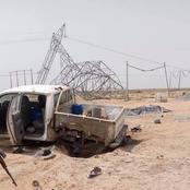 Explosives Laid By Suspected Terrorists Hit Vehicle Conveying Electricity Workers In Borno [PHOTOS]