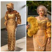 See These Gold Asoebi And Ankara Designs You Can Rock To Any Occasion