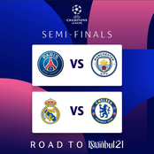 UCL Semi Final draw: Chelsea would face Real Madrid, Man City would face Paris Saint Germain.