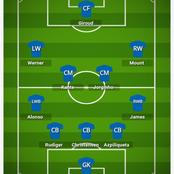 How Chelsea could lineup against Everton and break their defense line.