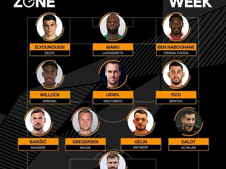 UEFA Europa League Team Of The Week (Game Week 2)