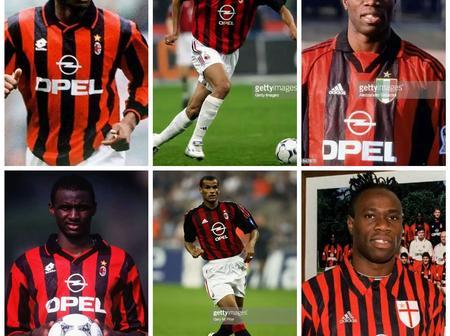 Throwback Photos Of Rivaldo, Taribo West And Patrick Vieira As AC Milan Players