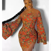 Checkout These Beautiful And Classy Ankara Short Gown Styles For African Ladies
