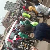 See what happened to students in front of Michael Okpara University today (Video)
