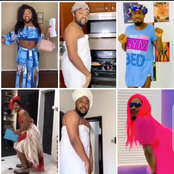 See Reactions To Video Of Walter Anga, Babarex, JnrPope And Other Male Celebs Dressed Like Ladies.