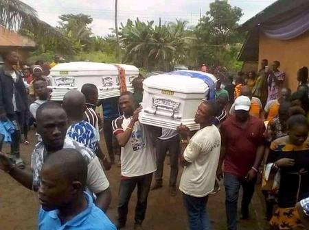 Family in Tears As They Bury Husband And Wife On The Same Day(Photos)