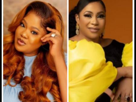 Toyin Abraham Shares Picture Of Her Look Alike Sister, Wishes Her A Happy Birthday