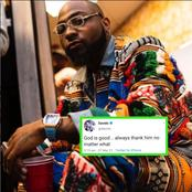 Check Out What Davido Said About God On Twitter