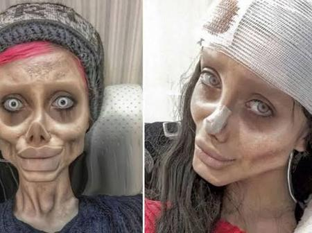 Pictures Of Lady Who Did 50 Surgeries To Look Like Her Favorite Celebrity