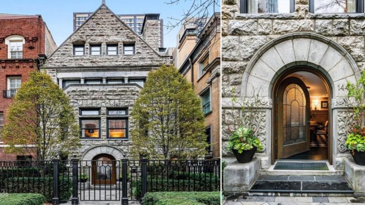 1891 Romanesque Revival by Architect Joseph Silsbee For $11.88M in Chicago, IL (PHOTOS)