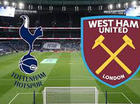 West Ham Vs Tottenham Hotspur: Predicted lineups, Time And Where You Can Watch It.