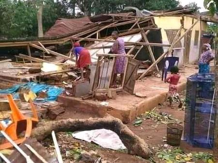 Kogi Citizen Raises Alarm As Heavy Storm Hits Ogugu Community, destroying over 300 Houses