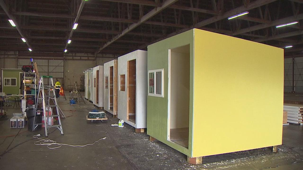 Olympia volunteers working to mass produce tiny homes to help unsheltered people