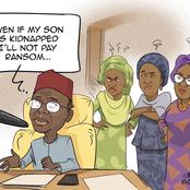 El-Rufai Wife Reacts To A Cartoon After Her Husband Said He Won't Pay Ransom If His Son Is Kidnapped