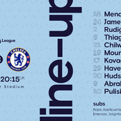 Confirmed Lineup: Chelsea vs Leicester