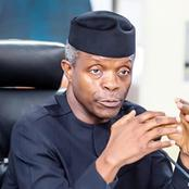Prof. Yemi Osinbajo Kicks against the ban of Bitcoin, Advises CBN to enforce regulatory policies