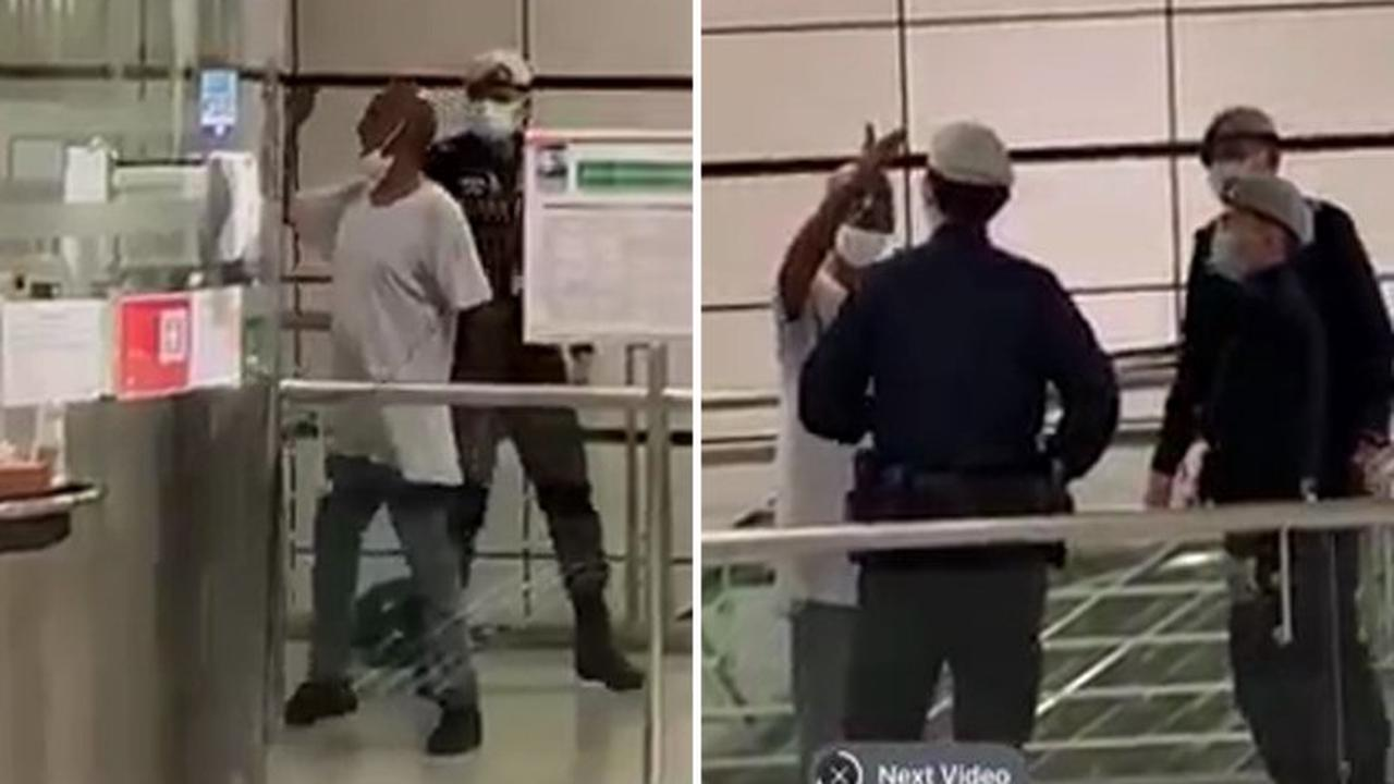 Drunk man arrested after slamming glass panel at Boon Keng MRT station, allegedly kicking police officers