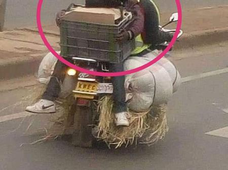 Internet Erupts After A Man Is Spotted Risking His Life While on Motorbike In Nairobi