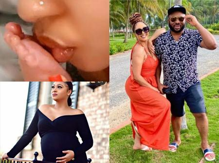 Tonto Dikeh's Ex Husband, Churchill & His New Wife, Rosey Meurer Welcome Their First Child (Photos)
