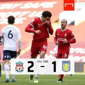 UEFA Reacts After Liverpool Finally Got Their First Win At Anfield In 2021 By Beating Aston Villa.