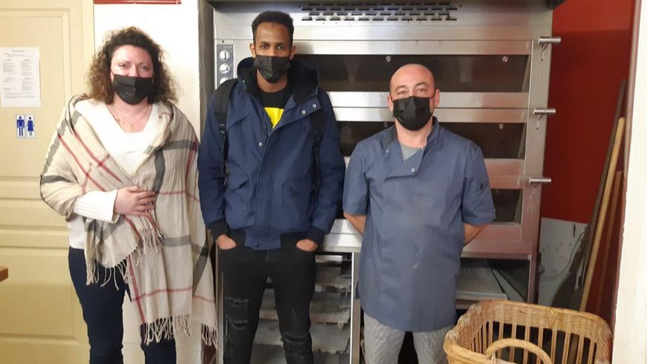 A Dijon le soulagement pour Ibrahima l'apprenti boulanger va pouvoir finir sa formation